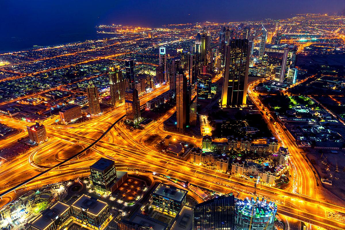 Dubai in der Nacht