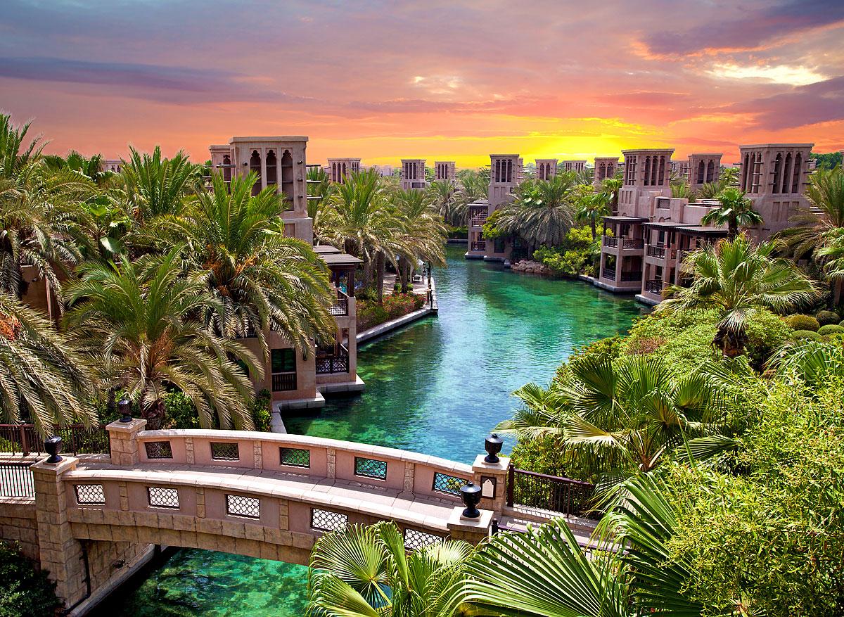 Künstlicher Fluss in Dubai