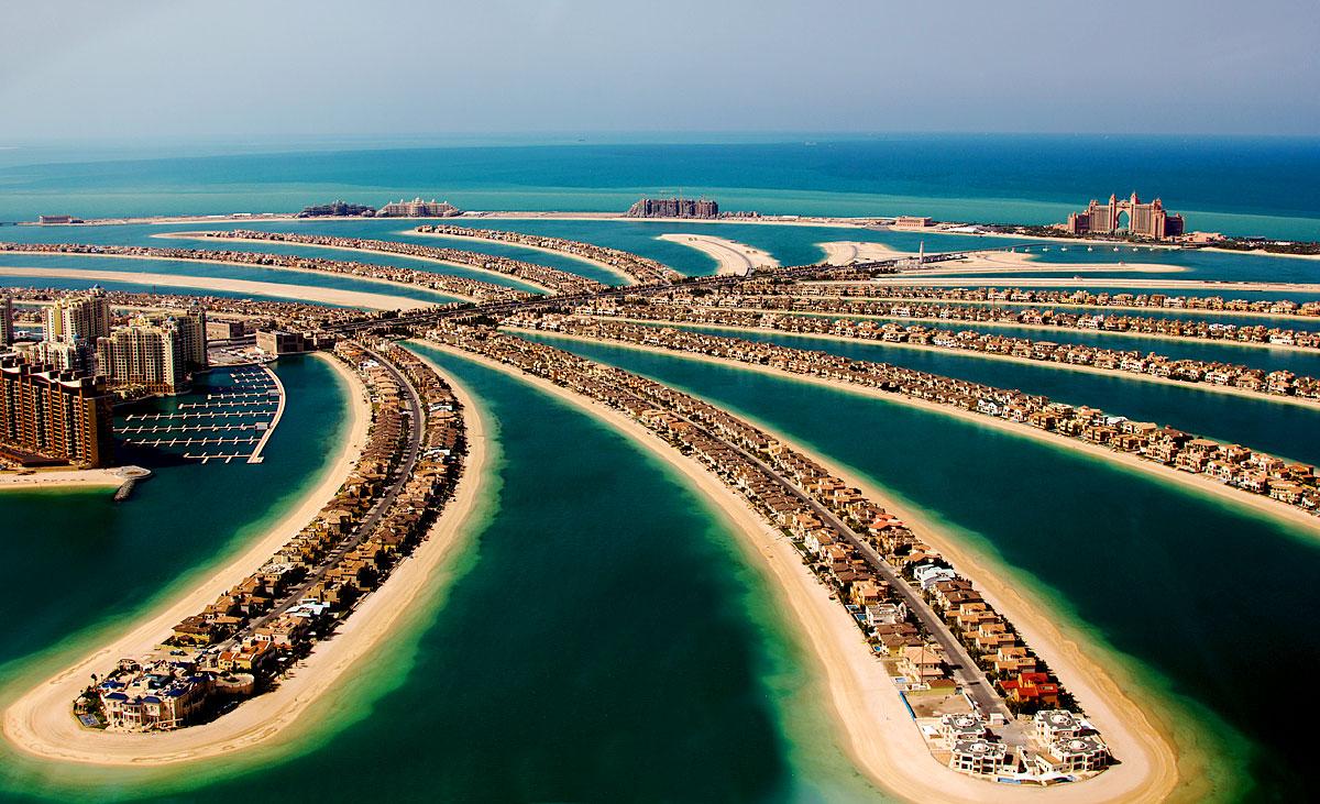 Die Palm Jumeirah in Dubai