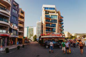 Promenade am Sonnenstrand in Bulgarien