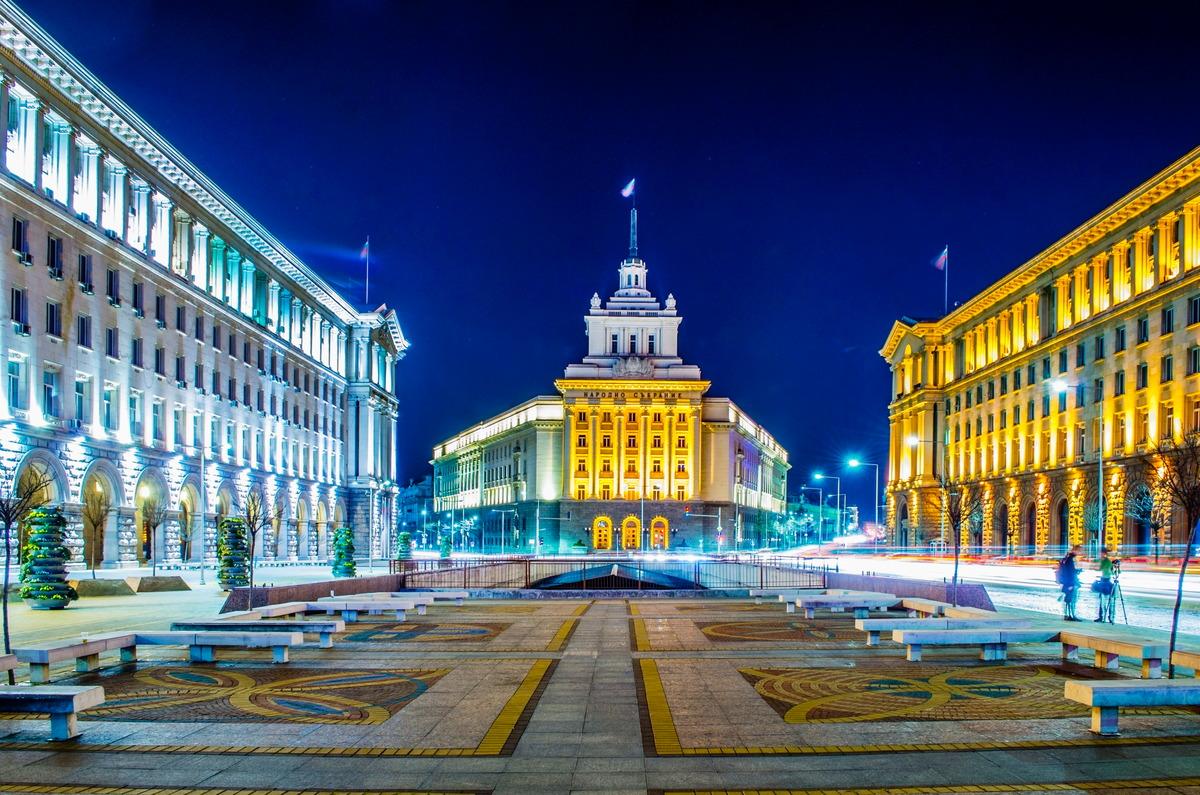 Stadtzentrum von Sofia in Bulgarien