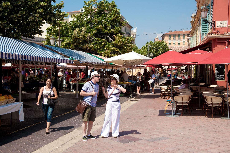 Marktplatz in Nizza
