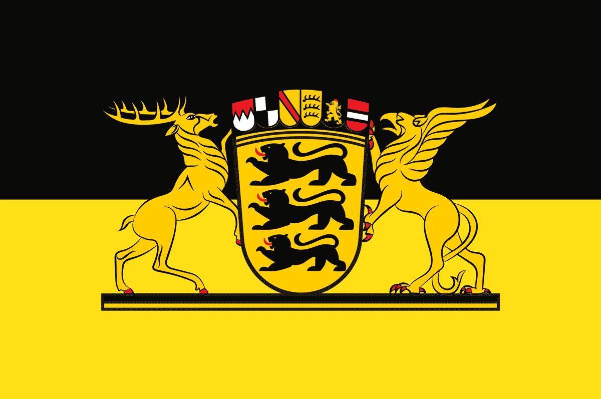 Die Flagge Baden-Württembergs