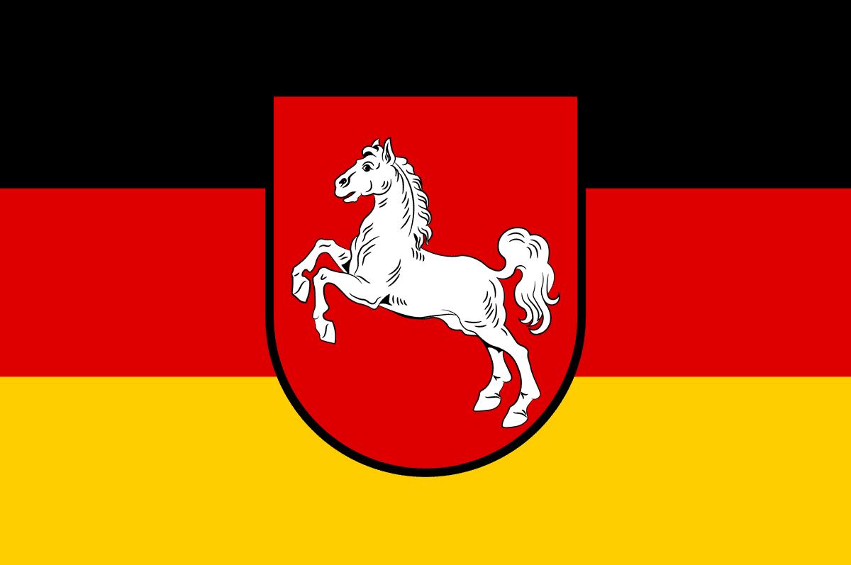 Die Flagge Niedersachsens