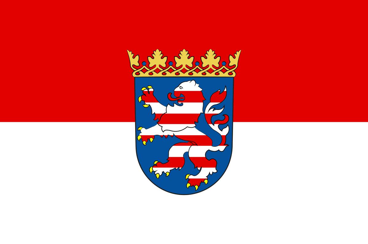 Flagge des Bundeslands Hessen