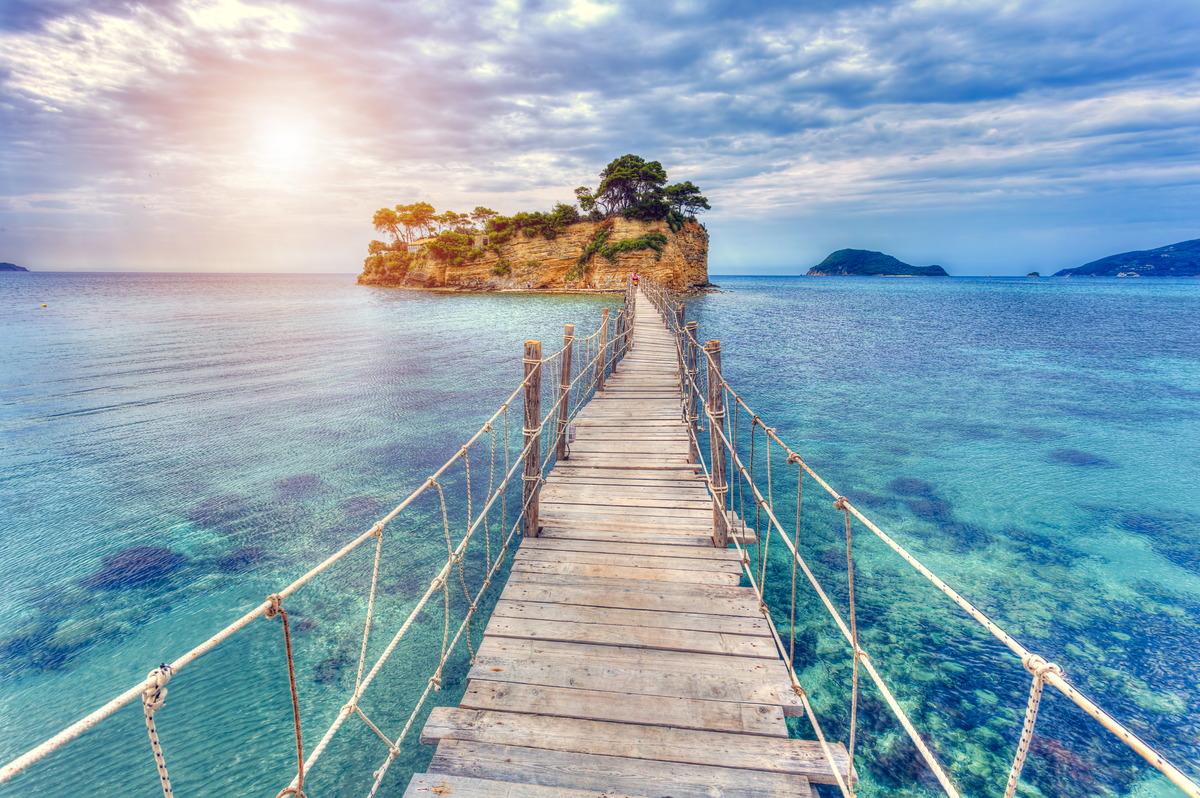 Brücke nach Agios Sostis