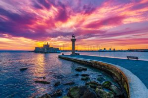 Mandraki-Hafen auf Rhodos