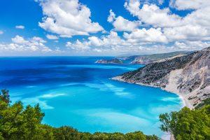 Myrtos-Strand auf Kefalonia