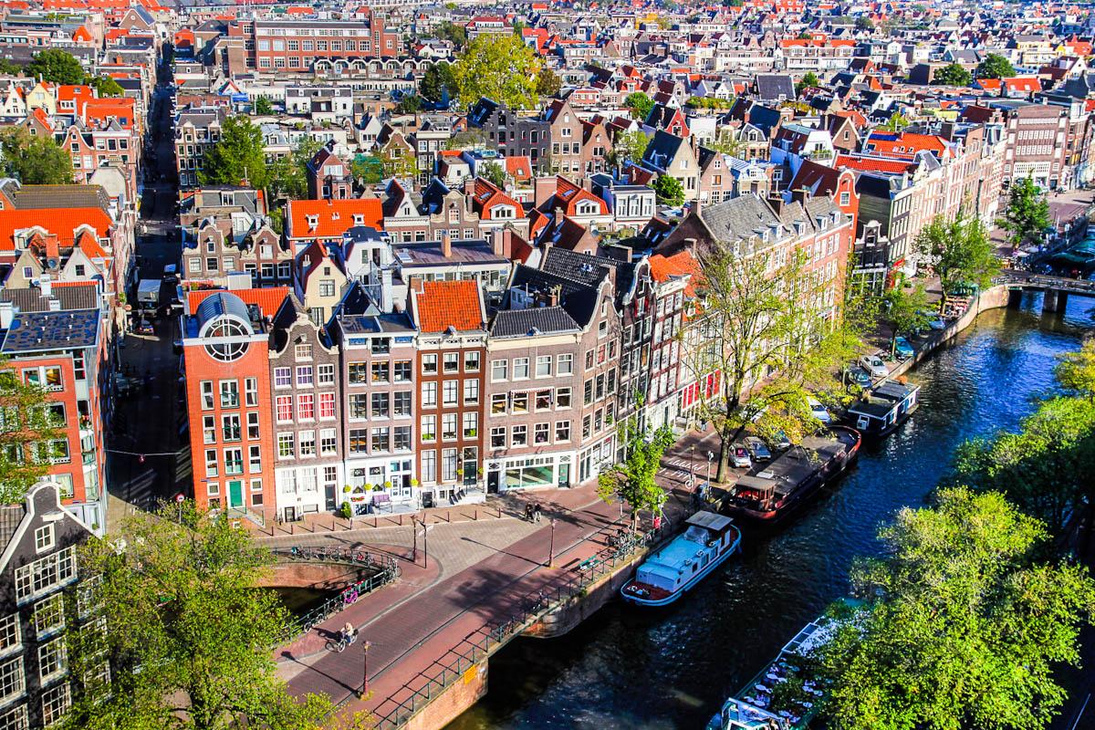Luftaufnahme von Amsterdam