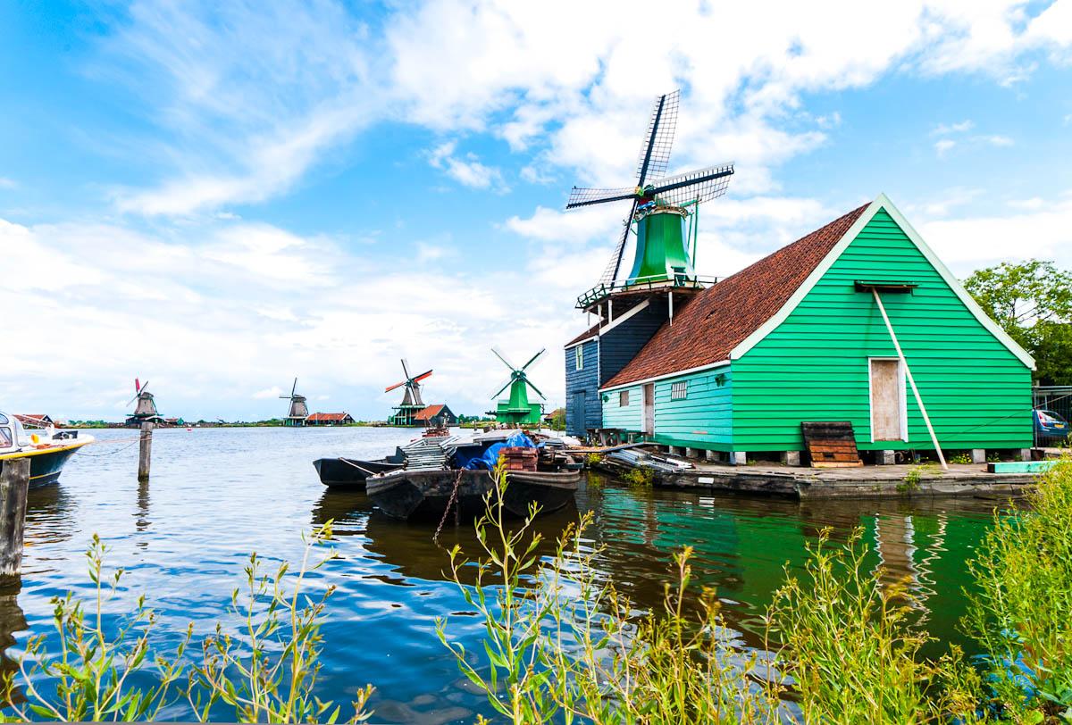 Amsterdam: Windmühlen in Zaanse Schans