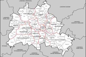 Karte: Berliner Bezirke & Stadtteile