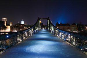 Brücke über den Main in Frankfurt