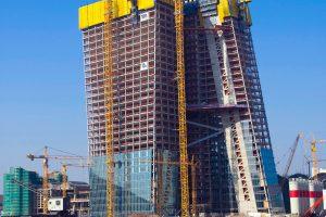EZB - Neubau der Europäischen Zentralbank in Frankfurt