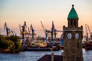 Hafenanlagen in Hamburg