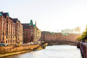 Foto der Speicherstadt in Hamburg