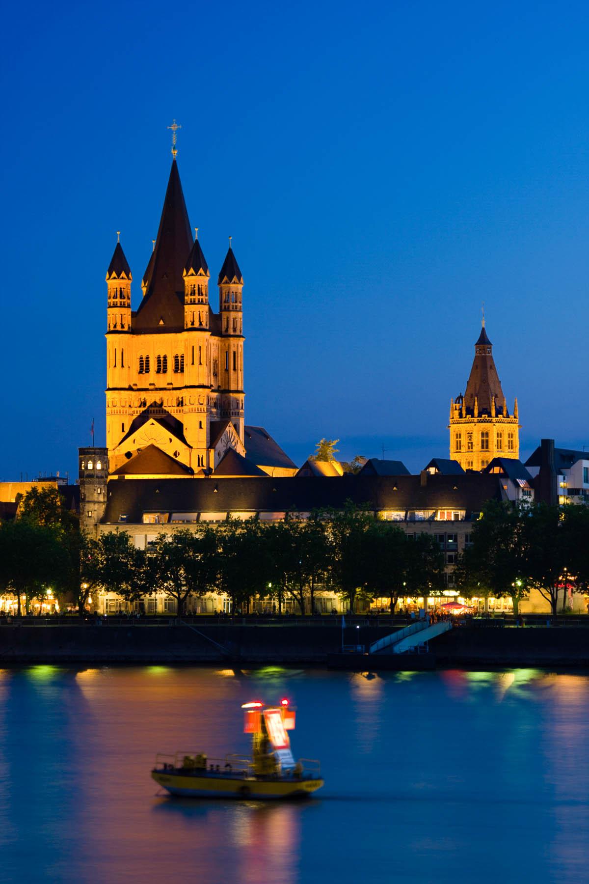 Groß Sankt Martin Kirche am Fischmarkt in Köln