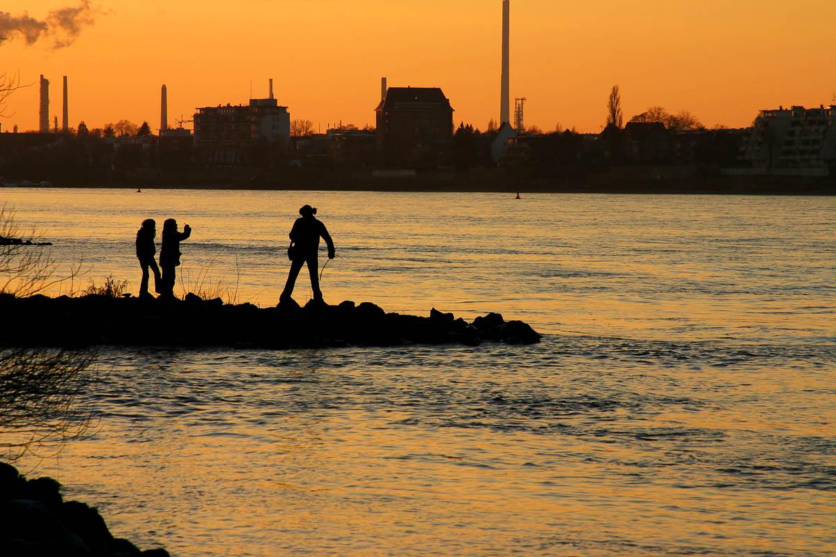 Rheinufer bei Köln