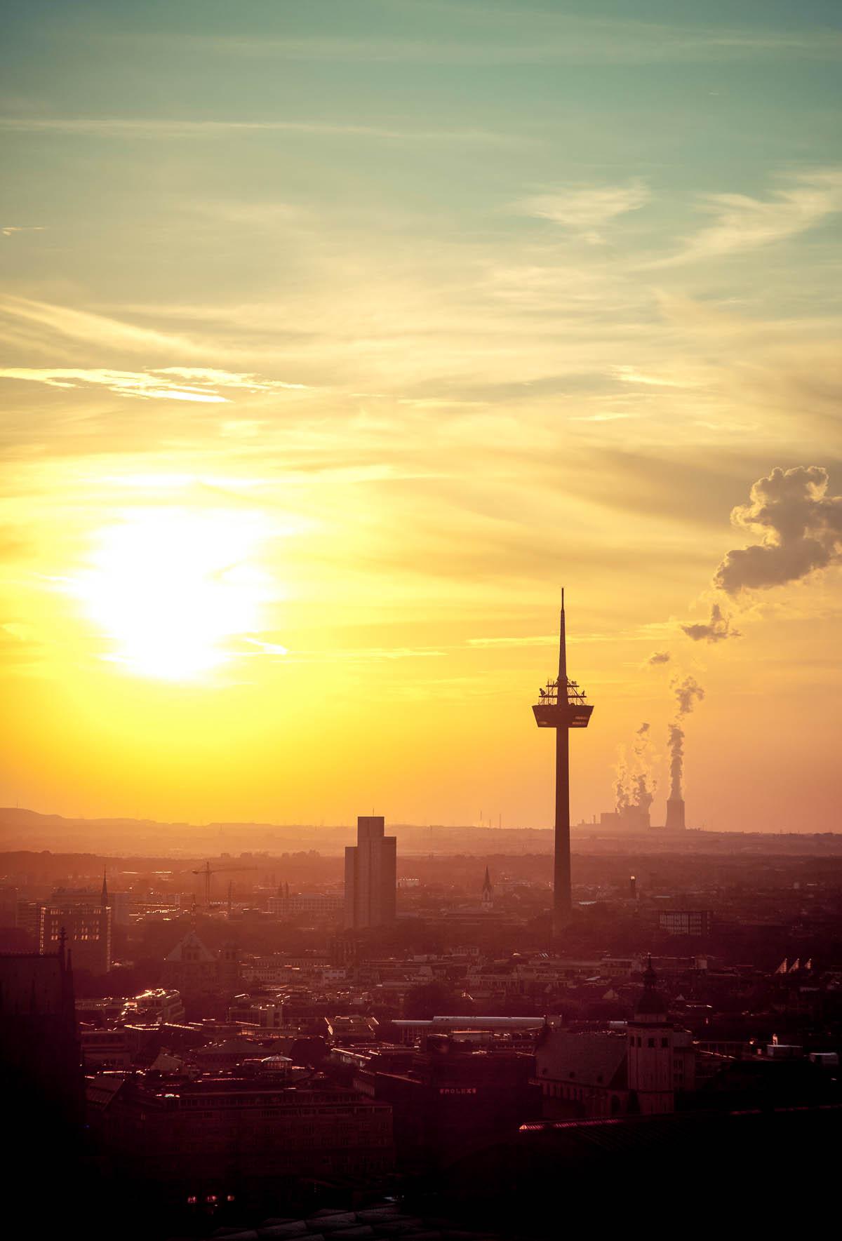 Sonnenuntergang über Köln