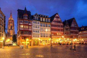 Römer in Frankfurt - Nachtaufnahme