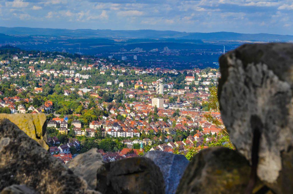 Blick vom Birkenkopf über Stuttgart