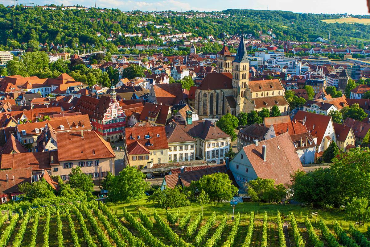Blick über Stuttgart-Esslingen