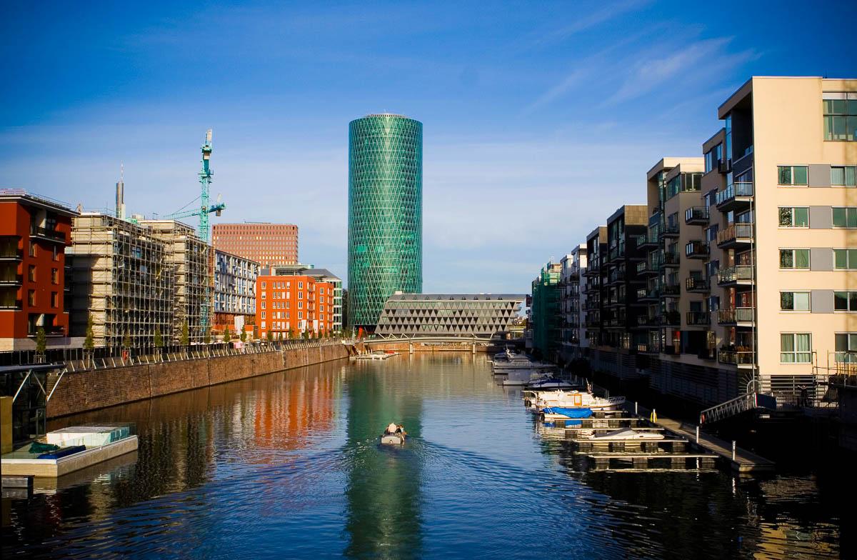 Westhafen Tower im Gutleutviertel von Frankfurt am Main