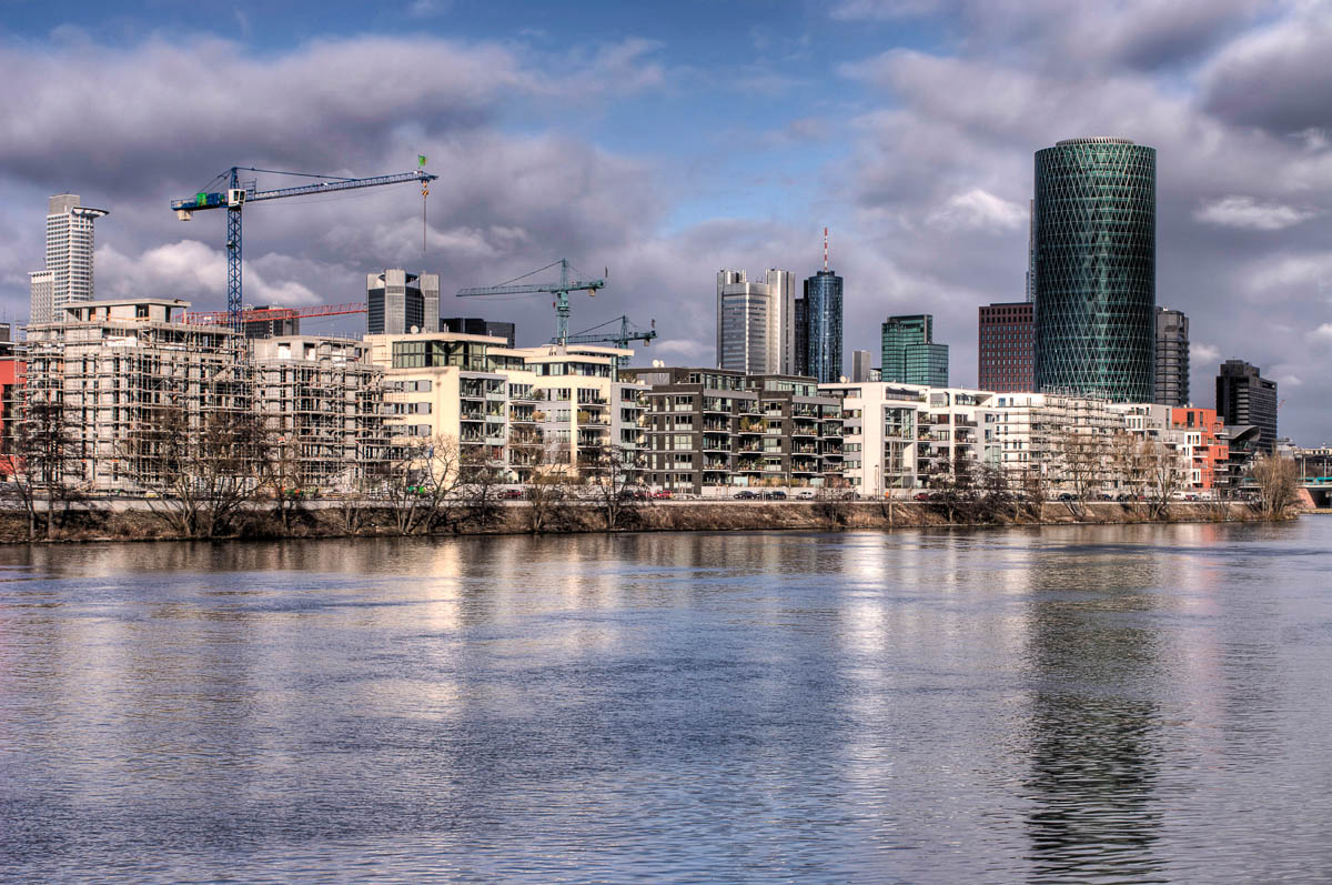 Westhafen Tower und Gutleutviertel in Frankfurt am Main