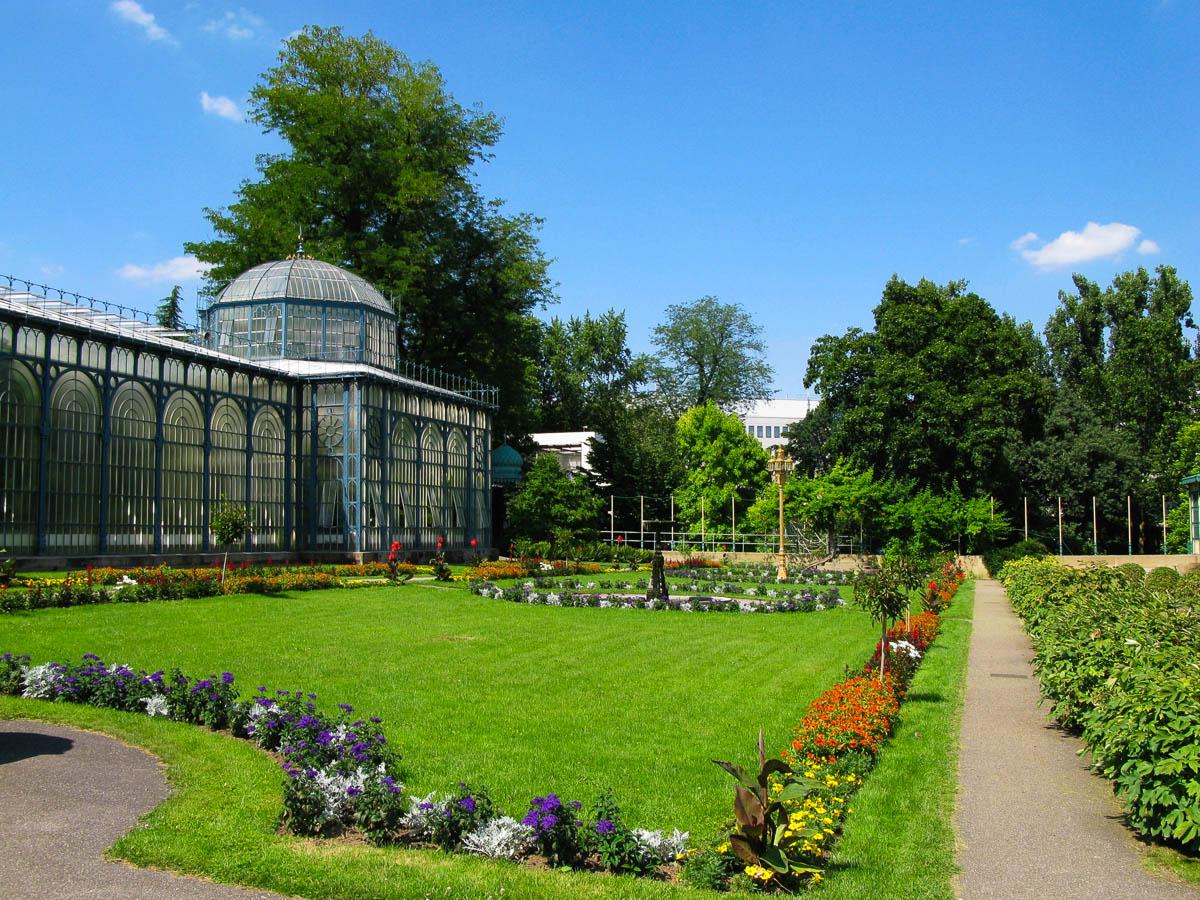 Gartenanlage im Zoo in Stuttgart