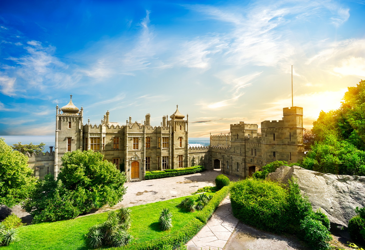 Woronzow-Palast in der Nähe von  Alupka auf der Krim