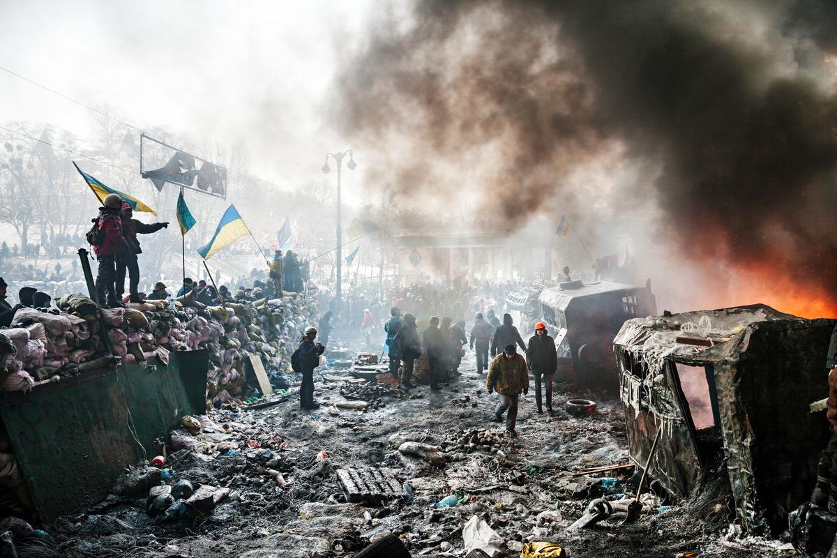 Proteste im Zentrum von Kiew 2014
