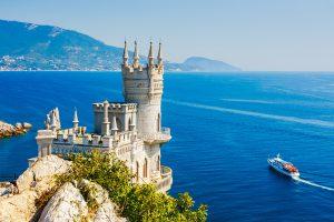 Schloss Schwalbennest auf der Krim in der Nähe von Jalta