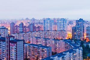 Wohnviertel in Kiew