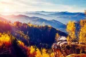 Herbst in den ukrainischen Karpaten