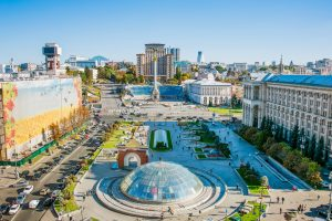 Blick über den Majdan in Kiew
