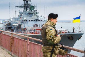 Wachsoldat in Odessa
