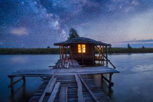 Wasserhaus in der Ukraine