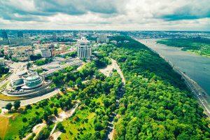 Blick über Kiew