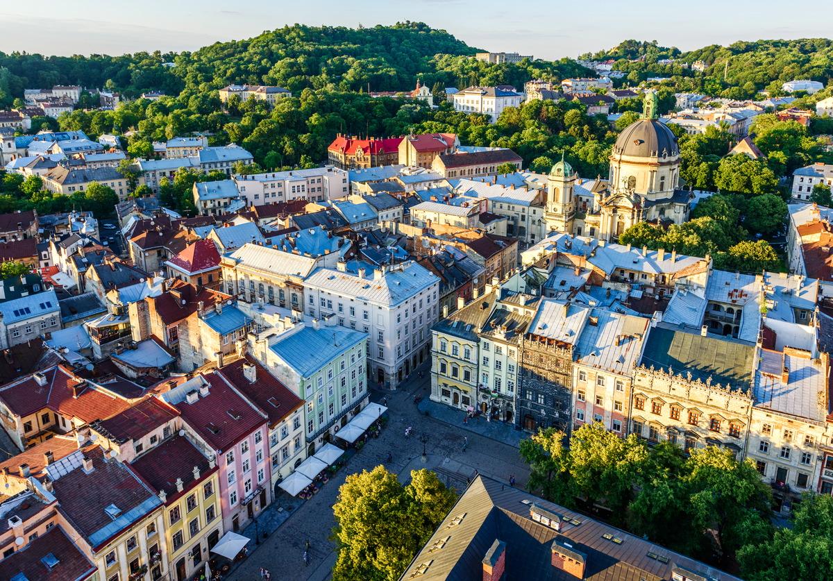 Blick auf die Altstadt von Lwiw