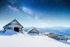Berghütte in den ukrainischen Karpaten