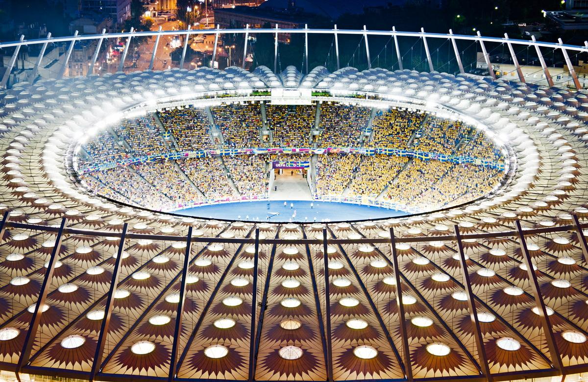 Olympiastadion in Kiew während der Fußball-Europameisterschaft 2012