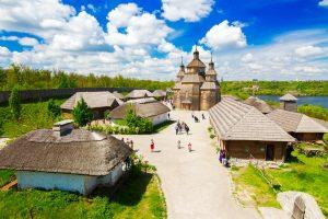 Saporoger Sitsch - Kosaken-Siedlung in Saporischschja