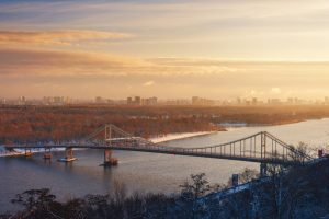 Blick über den Dnjepr bei Kiew