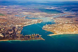 Hafen von Juschne in der Nähe von Odessa