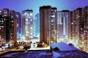Hochhäuser in Kiew