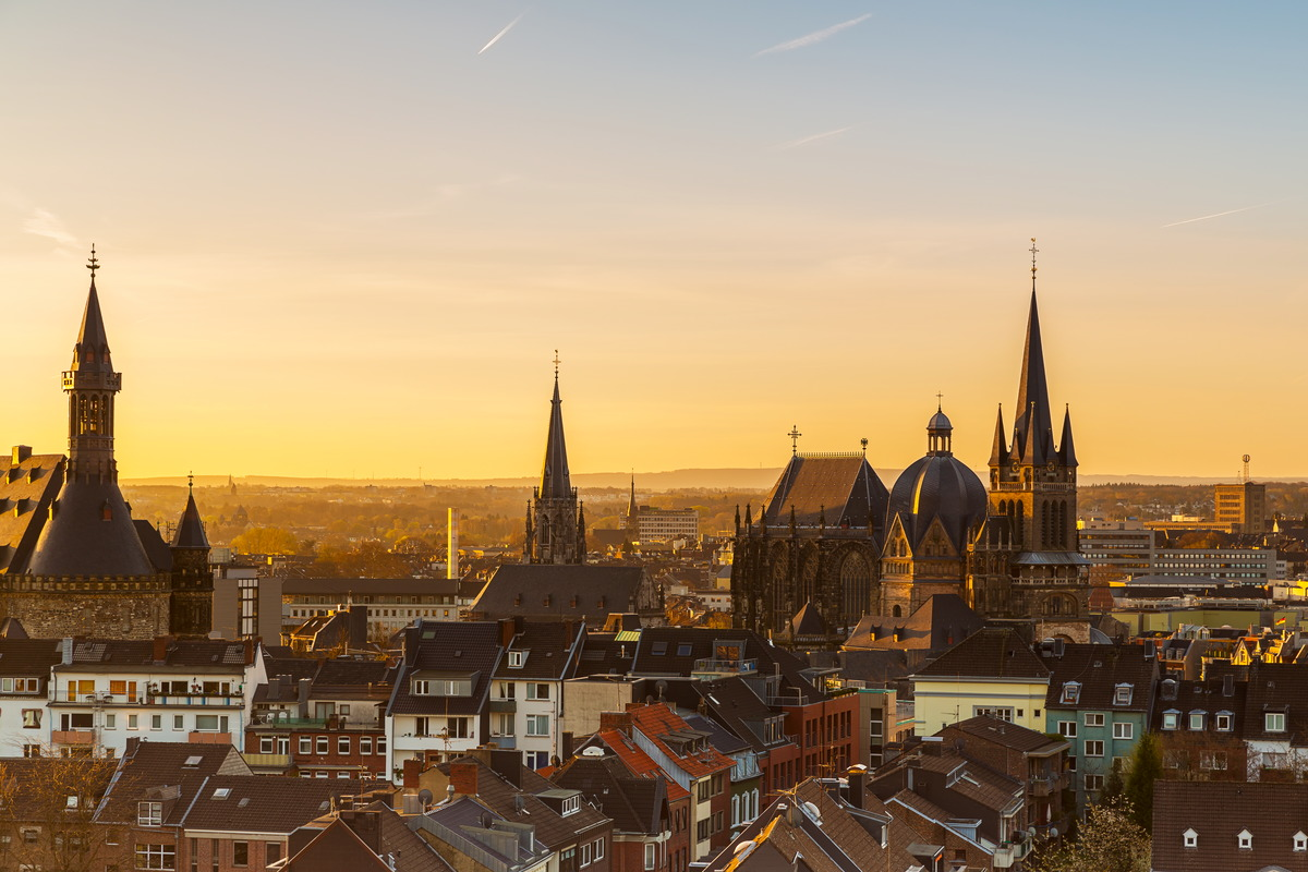 Morgendlicher Blick über Aachen
