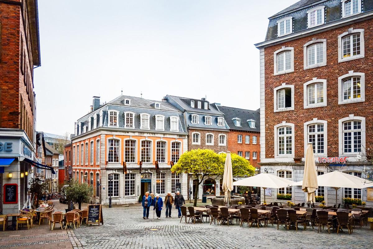 Fußgängerzone in Aachen