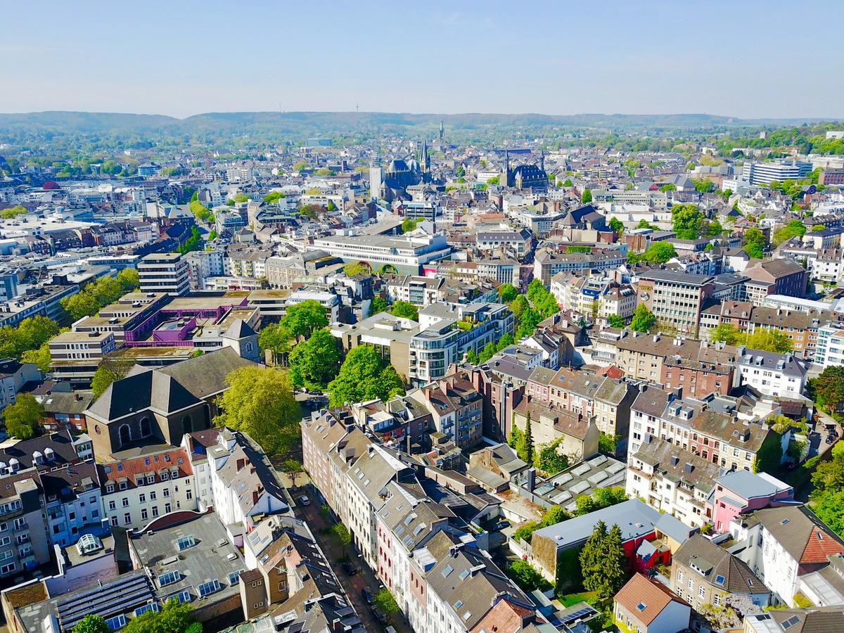 Luftaufnahme von Aachen