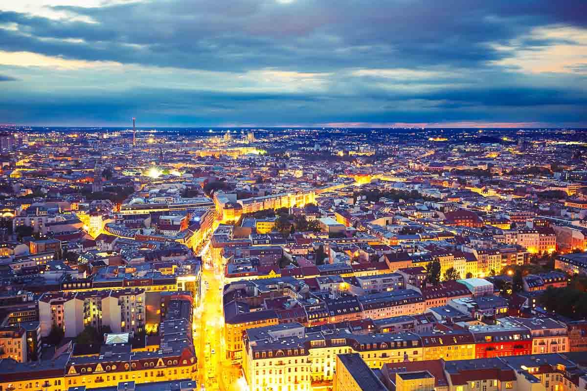 Nächtlicher Blick über Berlin