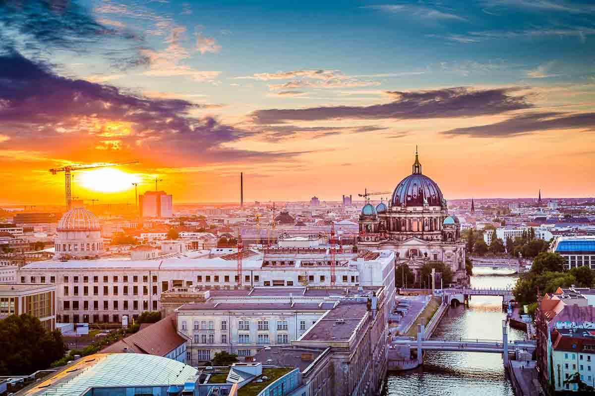 Abendlicher Blick über Berlin