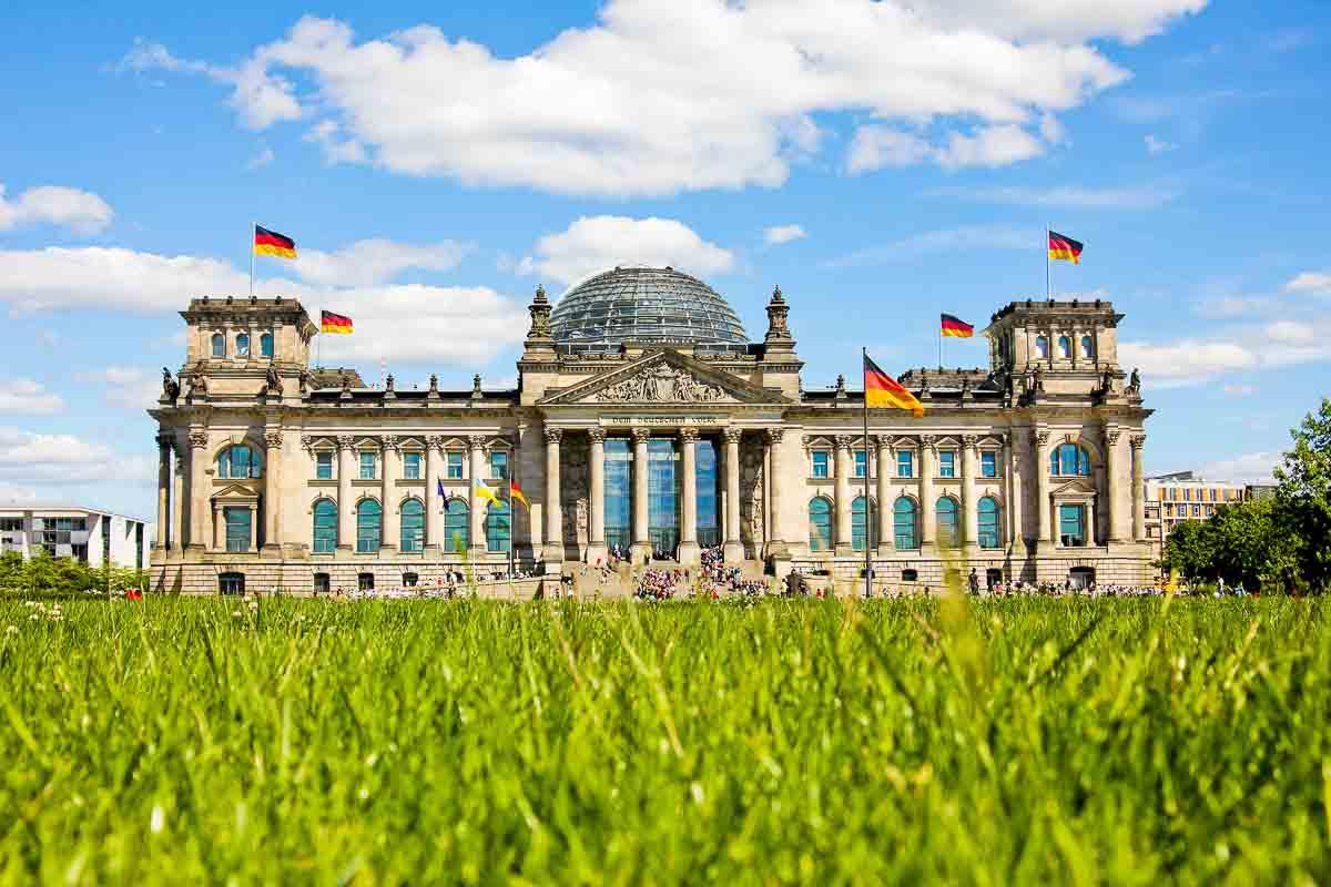 Der Reichtstag in Berlin